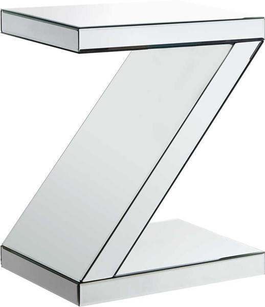 Meridian Furniture Zee Mirrored End Table MRD-226-E