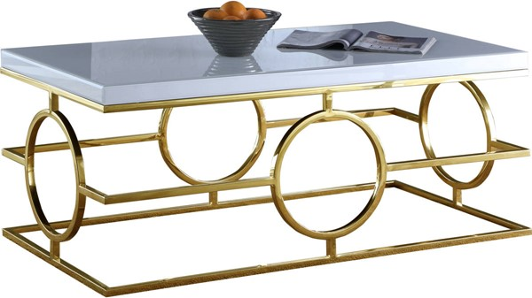 Design Edge Manildra  Gold White Coffee Table DE-22248268
