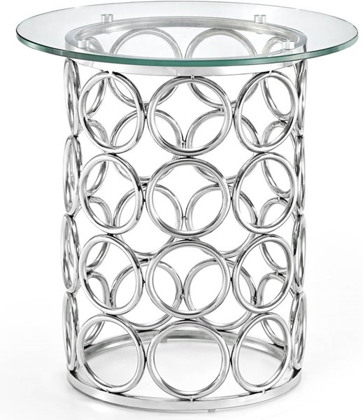 Meridian Furniture Opal Rich Chrome End Table MRD-236-E