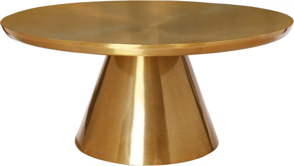 Meridian Furniture Martini Brushed Gold Coffee Table MRD-239-C