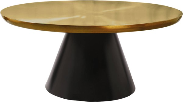 Design Edge Woodford  Brushed Gold Top Matte Black Base Coffee Table DE-23462082
