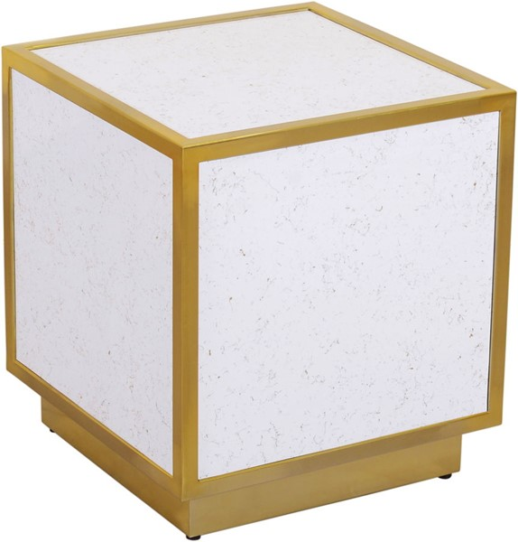 Meridian Furniture Glitz White Black End Tables MRD-242-ET-VAR