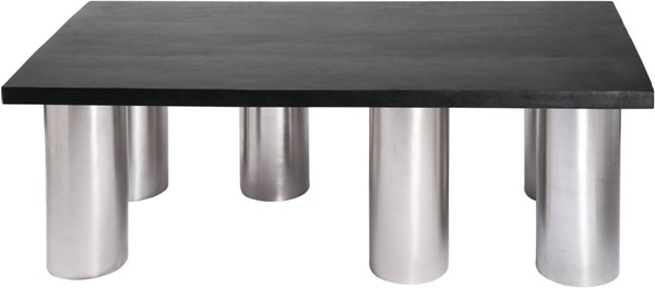 Meridian Furniture Piper Brushed Chrome Legs Coffee Table MRD-243-C