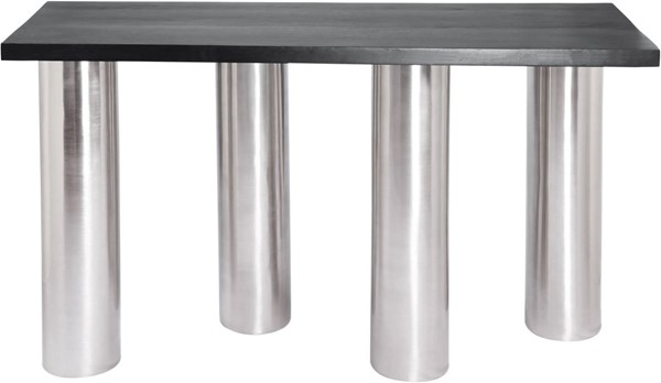 Meridian Furniture Piper Brushed Chrome Legs Console Table MRD-243-S