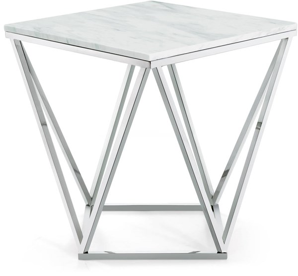Meridian Furniture Skyler Silver End Table MRD-244-E