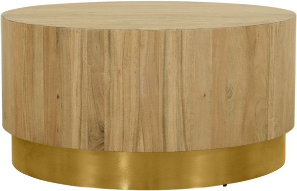 Meridian Furniture Acacia Gold Round Coffee Table MRD-246-CT