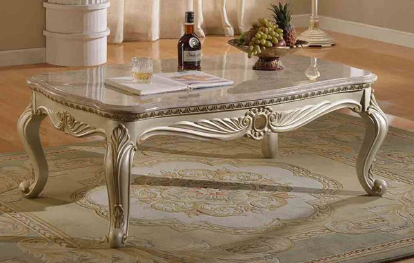 Meridian Furniture Marquee Pearl White Coffee Table MRD-252-C