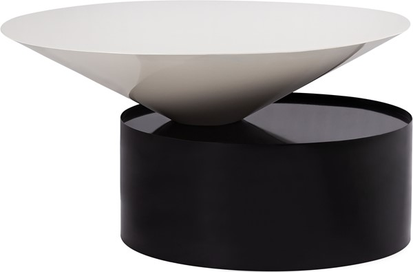 Meridian Furniture Damon White Black Coffee Table MRD-266-C