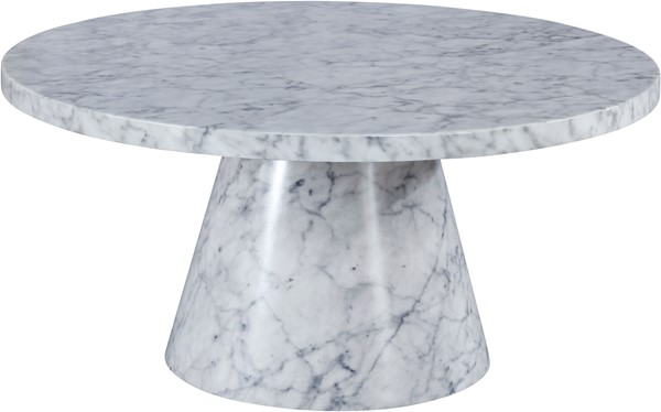 Meridian Furniture Omni White Faux Marble Coffee Table MRD-274-CT