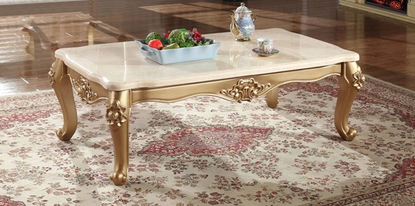 Meridian Furniture Bennito Rich Gold Coffee Table MRD-276-C