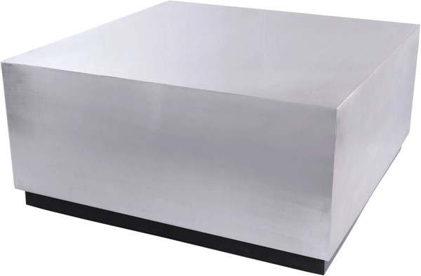Meridian Furniture Valle Brushed Chrome Coffee Table MRD-277-C