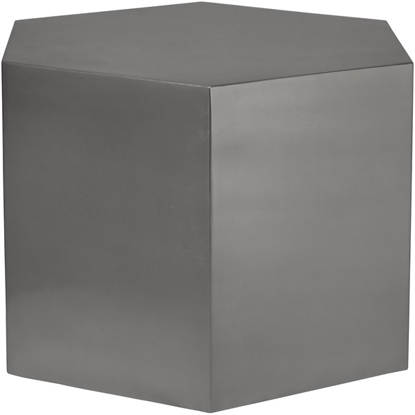 Meridian Furniture Hexagon Brushed Chrome Coffee Table MRD-293-CT