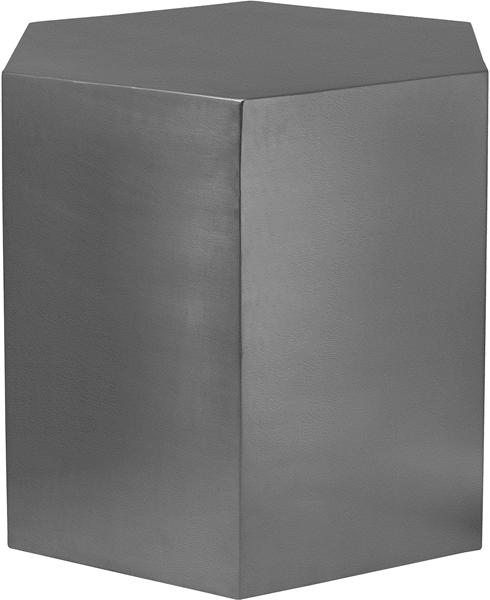 Meridian Furniture Hexagon Brushed Chrome End Table MRD-293-ET