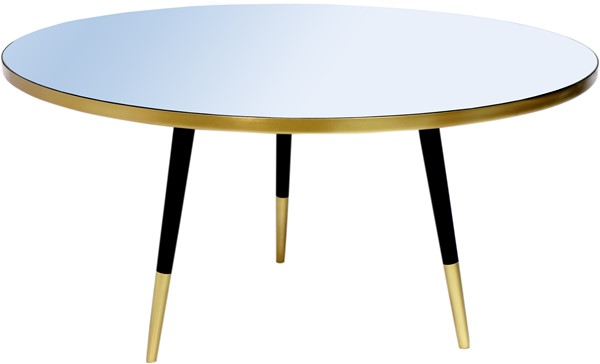 Meridian Furniture Reflection Gold Black Coffee Table MRD-294-CT