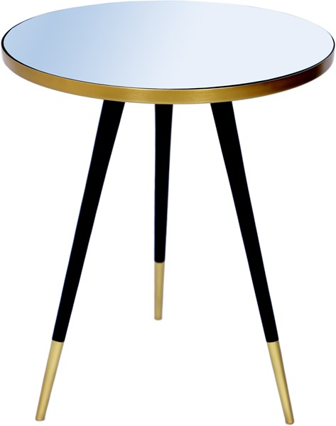 Meridian Furniture Reflection Gold Black End Table MRD-294-ET