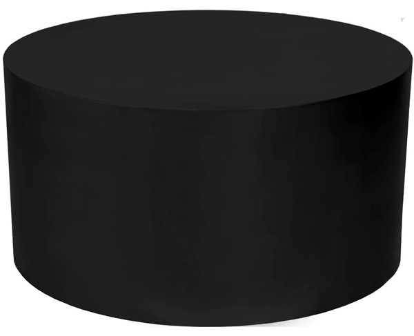 Meridian Furniture Cylinder Matte Black Coffee Table MRD-295-CT