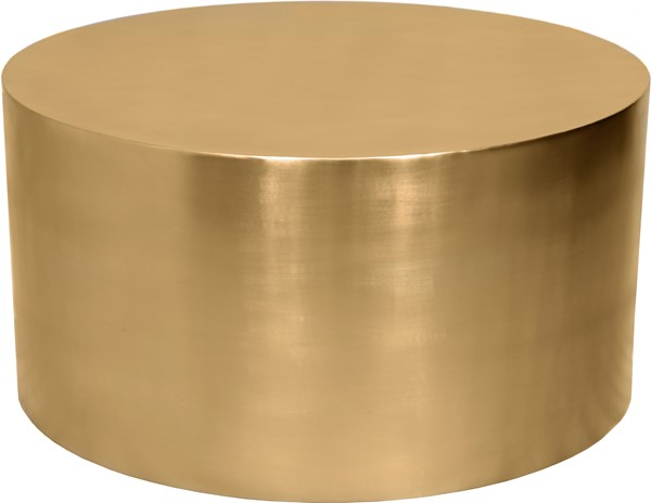 Meridian Furniture Cylinder Brushed Gold Coffee Table MRD-296-CT