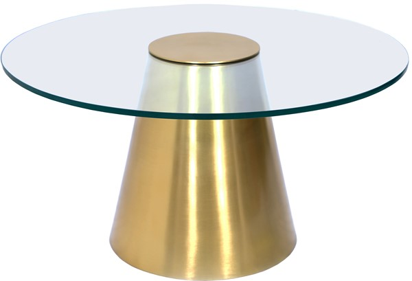Meridian Furniture Glassimo Brushed Gold Coffee Table MRD-298-CT