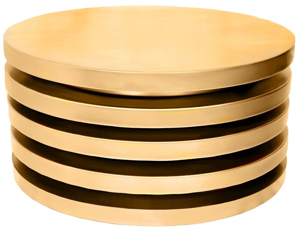 Meridian Furniture Levels Brushed Gold Coffee Table MRD-299-CT
