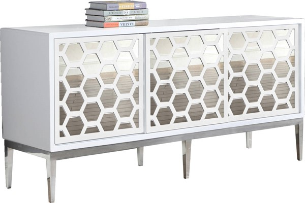 Meridian Furniture Zoey White Sideboard Buffet MRD-303