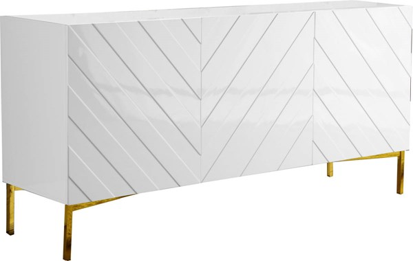 Meridian Furniture Collette White Sideboard Buffet MRD-310