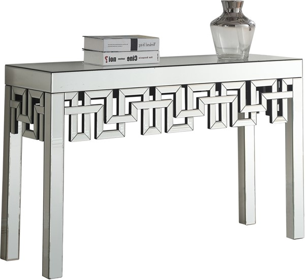 Meridian Furniture Aria Mirrored Console Table MRD-412-T