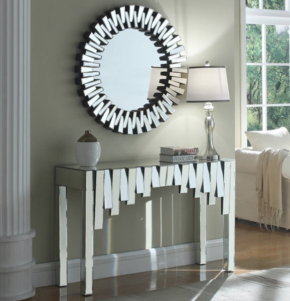 Meridian Furniture Kylie Console and Mirror Set MRD-414-CM