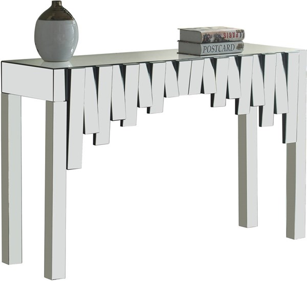Meridian Furniture Kylie Mirrored Console Table MRD-414-T