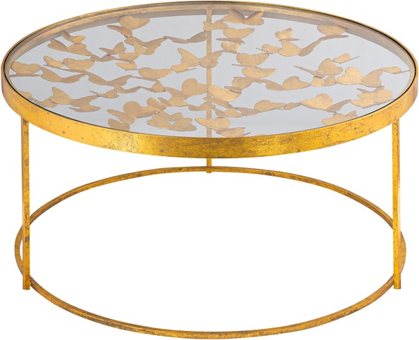 Meridian Furniture Butterfly Gold Coffee Table MRD-470-C