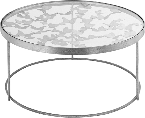 Meridian Furniture Butterfly Silver Coffee Table MRD-471-C