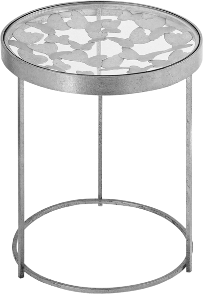 Meridian Furniture Butterfly Silver End Table MRD-471-E