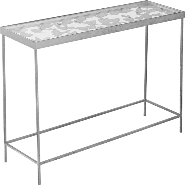 Meridian Furniture Butterfly Silver Console Table MRD-471-T