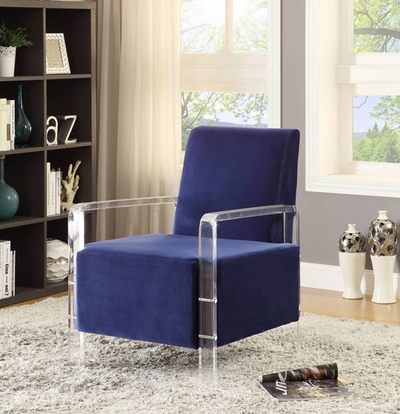 Meridian Furniture Liam Navy Accent Chair