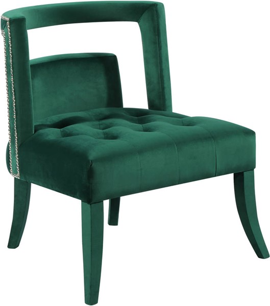 Design Edge Grantham  Green Velvet Accent Chair DE-21989402
