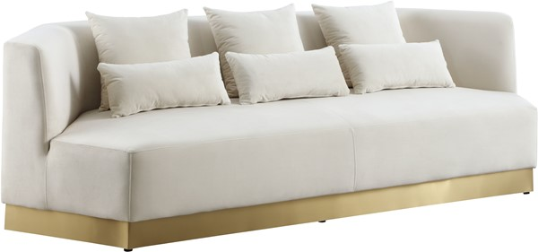 Meridian Furniture Marquis Cream Velvet Sofa MRD-600Cream-S