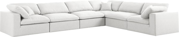 Meridian Furniture Serene Modular 6pc Reversible Sectionals MRD-601-SEC6A-VAR