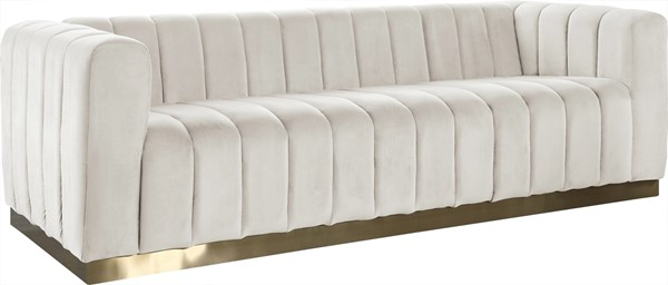 Meridian Furniture Marlon Cream Velvet Sofa MRD-603Cream-S