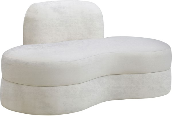 Meridian Furniture Mitzy Cream Velvet Loveseat MRD-606Cream-L