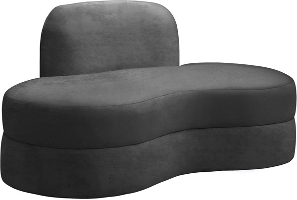 Meridian Furniture Mitzy Grey Velvet Loveseat MRD-606Grey-L