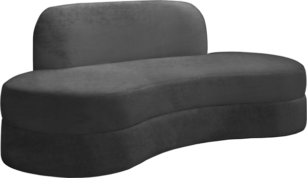 Meridian Furniture Mitzy Grey Velvet Sofa MRD-606Grey-S