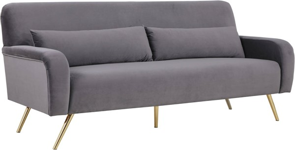 Meridian Furniture Clarissa Grey Velvet Sofas MRD-607-SF-VAR