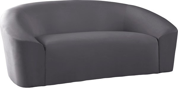Meridian Furniture Riley Grey Velvet Loveseat MRD-610Grey-L