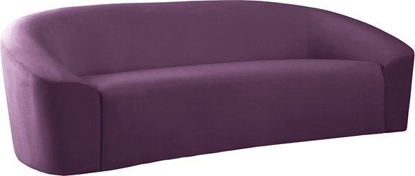 Meridian Furniture Riley Purple Velvet Sofa MRD-610Purple-S