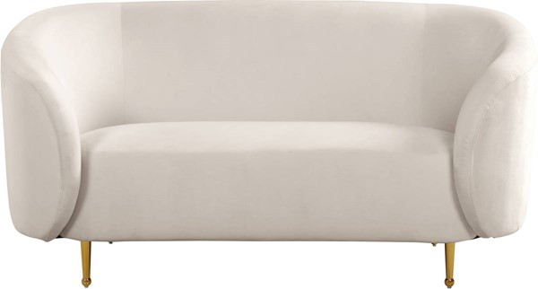 Design Edge Urbenville  Cream Velvet Loveseat DE-23272001