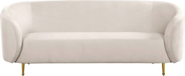 Design Edge Urbenville  Cream Velvet Sofa DE-23272051