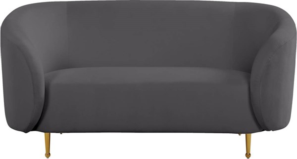 Design Edge Urbenville  Grey Velvet Loveseat DE-23272011