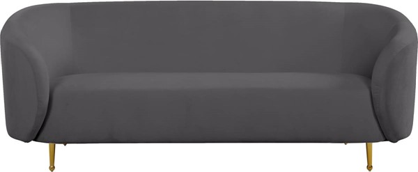 Design Edge Urbenville  Grey Velvet Sofa DE-23272061