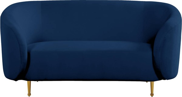 Design Edge Urbenville  Navy Velvet Loveseat DE-23272021