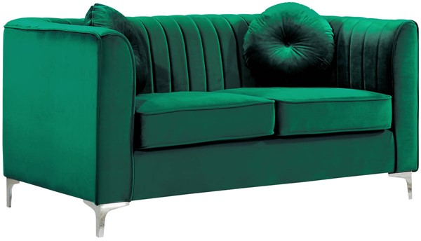Design Edge Tea Gardens  Green Velvet Loveseat DE-21990100