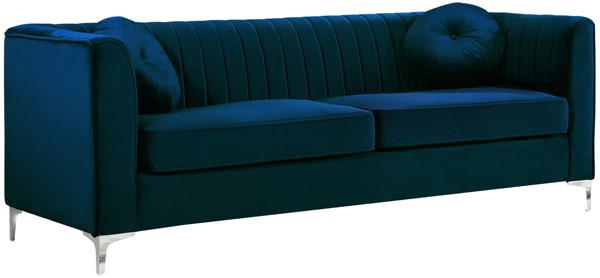 Design Edge Tea Gardens  Navy Velvet Sofa DE-21990170